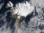 Eyjafjallajokull Volcano (Islandia desde el cielo)